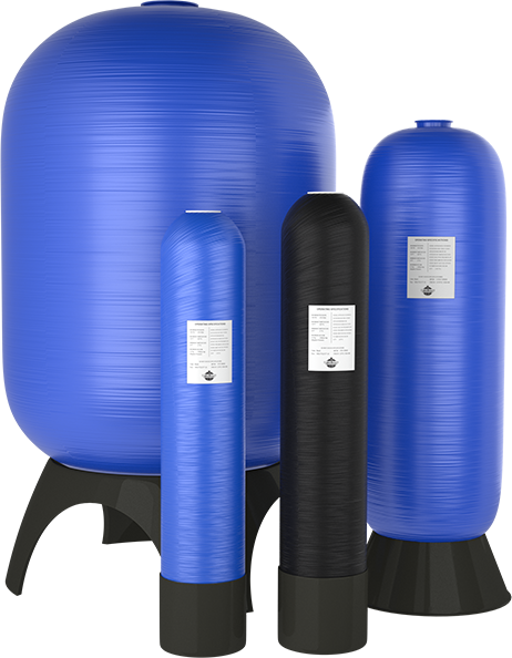 polyglass media storage tanks